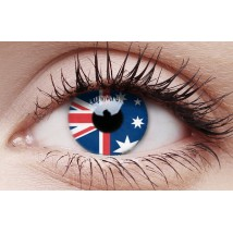Australia Flag - Crazy Lens non-prescription (2 pack)
