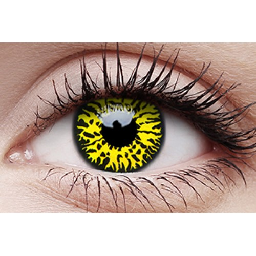 Image of Yellow Eclipse - Crazy Lens non-prescription (2 pack)