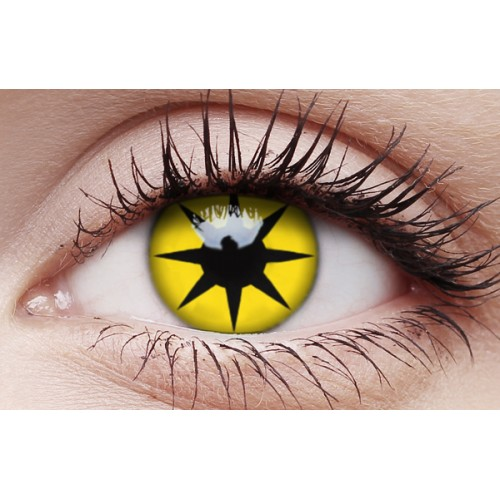 Image of Yellow Star - Crazy Lens non-prescription (2 pack)