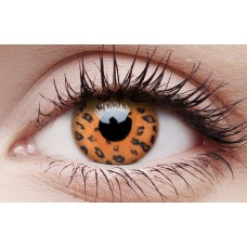 Yellow Leopard - Crazy Lens non-prescription (2 pack)