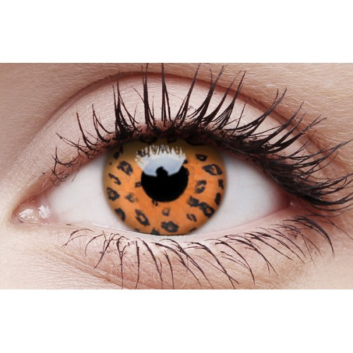 Image of Yellow Leopard - Crazy Lens non-prescription (2 pack)